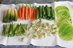 Faire cuire à anglaise, tous les légumes