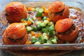 Ajoutez en dernier les dès de carottes et de courgettes.
