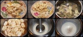 Épluchez, dégermez, blanchir, et cuire l'ail