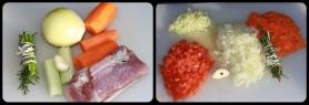 Épluchez et taillez tous les légumes.