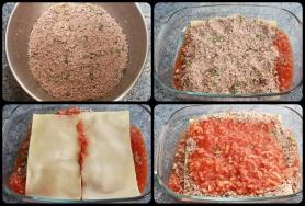 Hachez le bœuf, procédez au montage du plat.