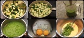 Lavez, taillez, mixez, desséchez, mélanger à l'appareil à flan.