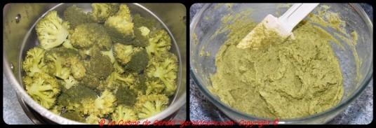 Cuire les brocolis à la vapeur.