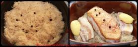 Préparation de la Choucroute. Mise en cuisson.