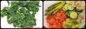 Cuire les légumes à la vapeur.