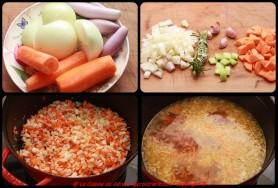 Taillez les légumes, suez les légumes...