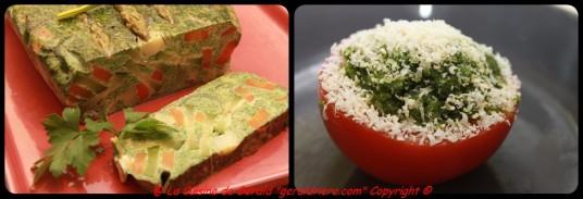 Servir avec une tomate provençale, une mayonnaise au pesto...