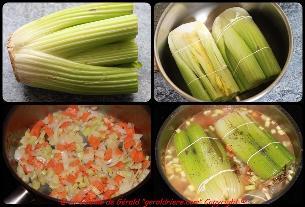 celeri en branches braises, gratines au four | la cuisine de gérald