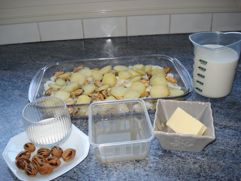 Ingrédients pour la Morue sauce Béchamel