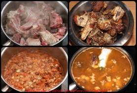 Flambez, découpez le poulet en 6 morceaux, réservez les abattis.
